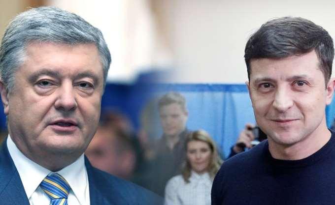 Ουκρανία: Σε ένα ντιμπέιτ-σόου, Ζελένσκι και Ποροσένκο αντάλλαξαν κατηγορίες, δύο ημέρες πριν τις προεδρικές