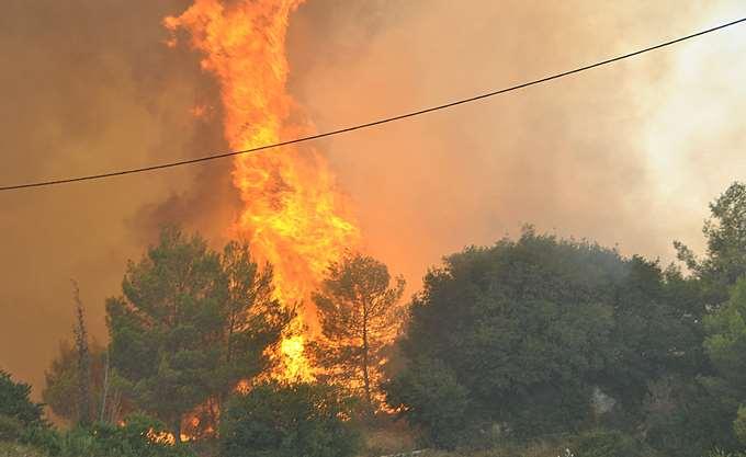 Πυρκαγιά στην Κλινδία Ηλείας