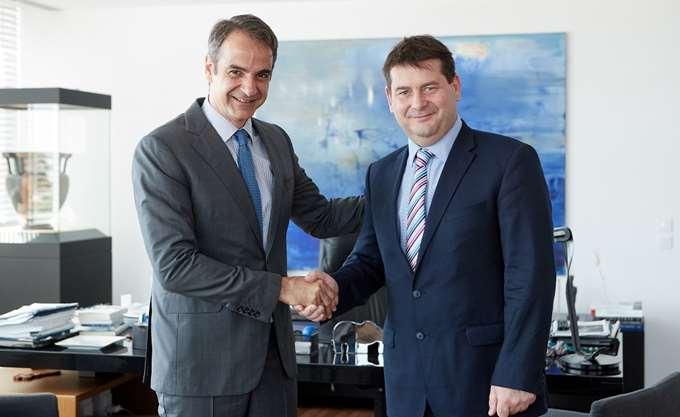 Συνάντηση αντιπροέδρου ΕΛΚ με Κ. Μητσοτάκη