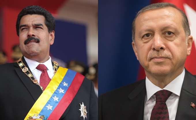 Ερντογάν σε Μαδούρο: Αδερφέ μου, είμαστε στο πλευρό σου!