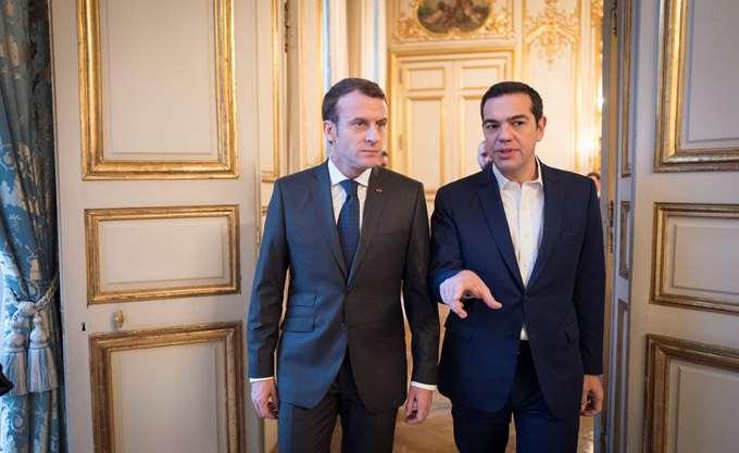 ΕΕ, ελληνική οικονομία και επενδύσεις στη συνάντηση Τσίπρα- Μακρόν