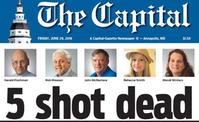 Capital Gazette: Εκδόθηκε το φύλλο της Παρασκευής, παρά το μακελειό με πέντε νεκρούς