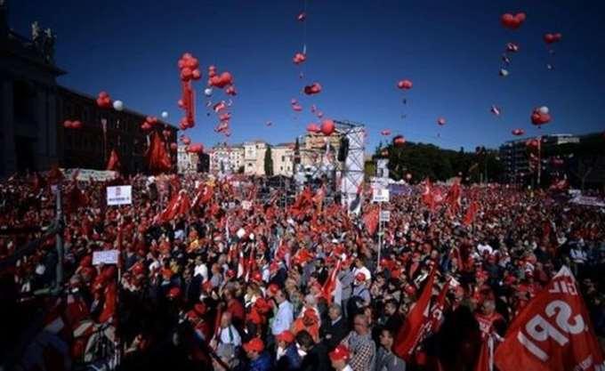 Ιταλία: Σε εξέλιξη διαδηλώσεις του ιταλικού συνδικάτου Cgil