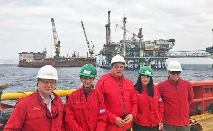 Energean: Επίσκεψη της Βρετανίδας πρέσβειρας στον Πρίνο