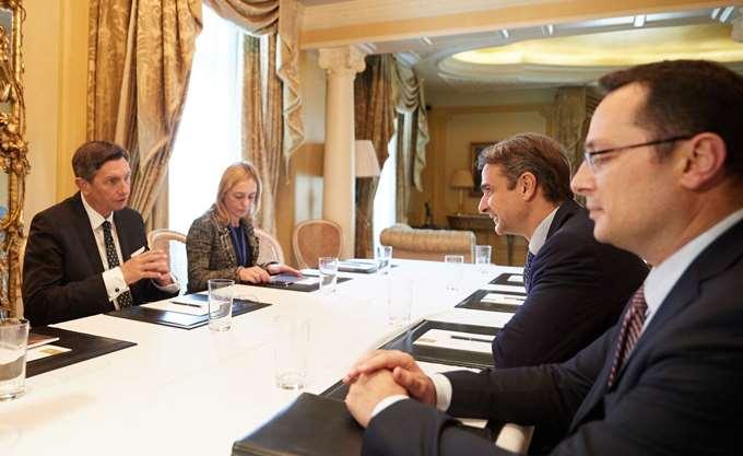 Τι συζητήθηκε στη συνάντηση Κ. Μητσοτάκη και πρόεδρου της Σλοβενίας