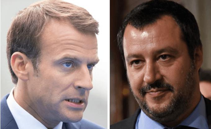 """Ο Σαλβίνι ελπίζει οι Γάλλοι να απαλλαγούν από τον """"κακό πρόεδρο"""" Μακρόν"""