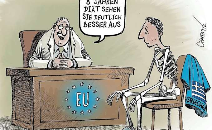 Γελοιογραφία του Spiegel για την Ελλάδα