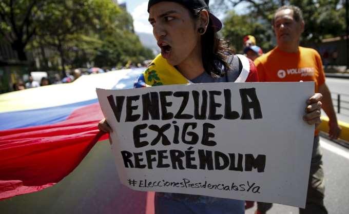Βενεζουέλα: Μια νεκρή στη διάρκεια δημοψηφίσματος κατά του Μαδούρο