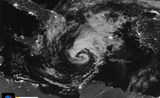 """Δορυφόρος της NASA φωτογράφισε τον """"Ζορμπά"""""""