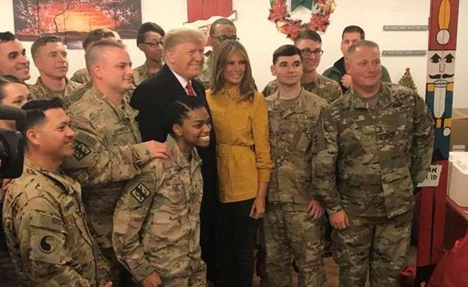 Η επίσκεψη του Τραμπ στο Ιράκ η πρώτη του σε ζώνη συγκρούσεων