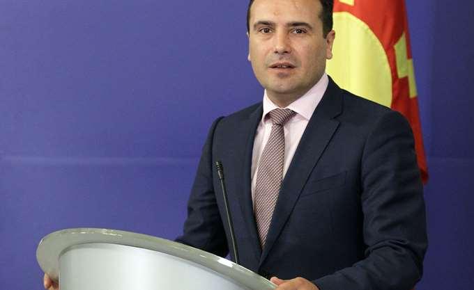 """ΠΓΔΜ: Ο Ζ. Ζάεφ αποκάλεσε τη χώρα """"Βόρεια Μακεδονία"""" κατά την τελετή έπαρσης της σημαίας του ΝΑΤΟ"""