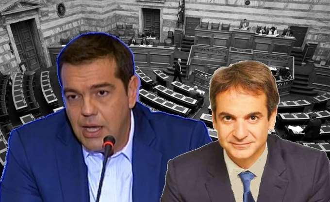 """""""Αρένα""""  η Βουλή - Τσίπρας απαντάει σε Μητσοτάκη για ανομία και εγκληματικότητα"""