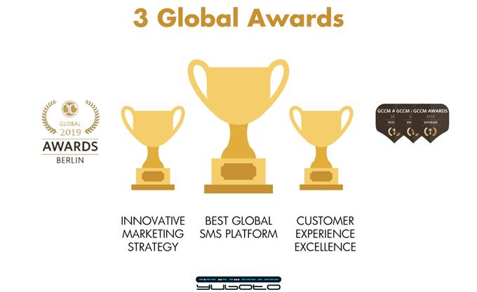 Yuboto: 3 Διεθνή Βραβεία & Παγκόσμια Αναγνώριση στα Global Carrier Community Awards 2019