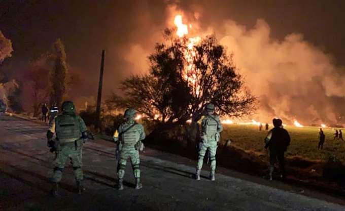 Μεξικό: Στους 79 οι νεκροί από την έκρηξη στον πετρελαιαγωγό