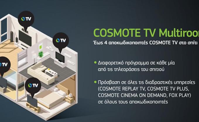 Νέα υπηρεσία COSMOTE TV MULTIROOM