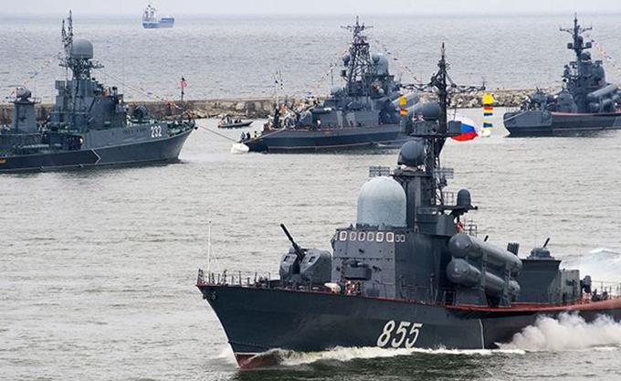 Ανάπτυξη ρωσικών πολεμικών πλοίων στην Μαύρη Θάλασσα κατά νατοϊκής ναυτικής άσκησης