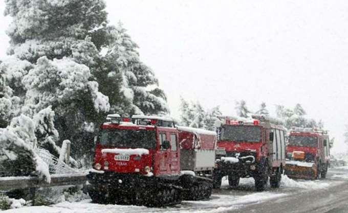 Χιονοπτώσεις στη δυτική Μακεδονία