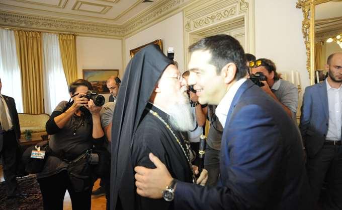 Συνάντηση Α. Τσίπρα με τον Οικουμενικό Πατριάρχη