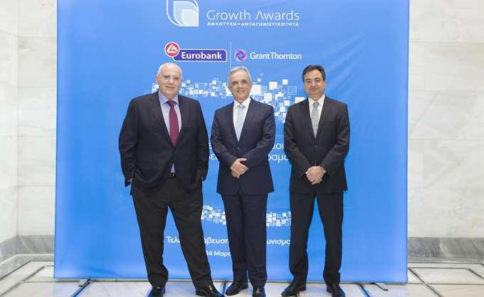 Growth Awards: Η Eurobank και η Grant Thornton επιβραβεύουν την επιχειρηματική αριστεία