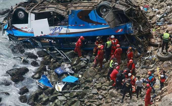 Περού: Λεωφορείο που μετέφερε μικρούς ποδοσφαιριστές έπεσε στο κενό, επτά νεκροί