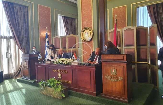 """Ελλάδα, Αίγυπτος υπέγραψαν τη συμφωνία για οριοθέτηση ΑΟΖ - Στον """"κάλαθο των αχρήστων"""" το τουρκολιβυκό μνημόνιο"""