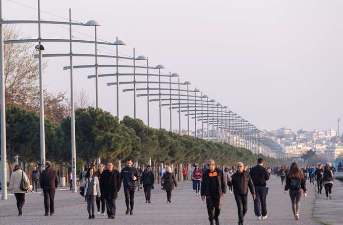 Θεσσαλονίκη καραντίνα χαμός 03/2020