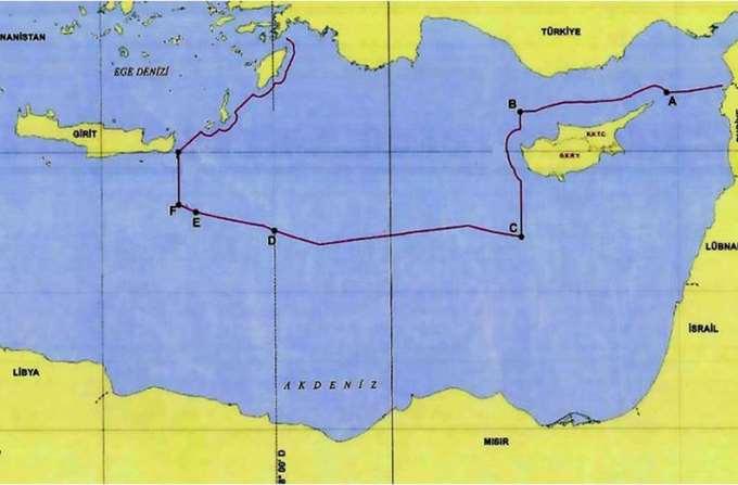 Χάρτης ΑΟΖ Τουρκία Λιβύη