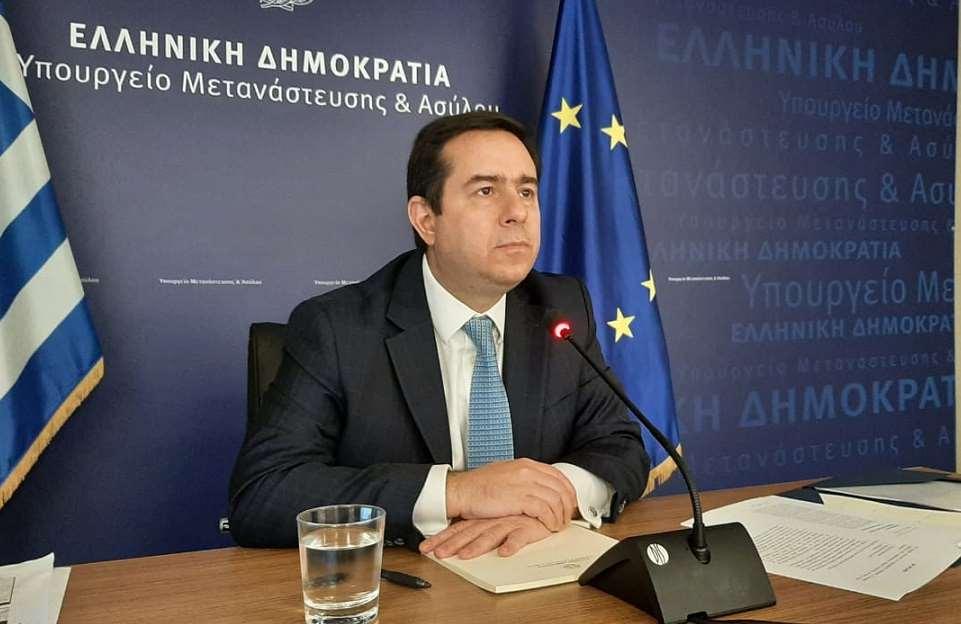 Συνάντηση του Υπ. Μετανάστευσης και Ασύλου κ. Νότη Μηταράκη, με τον Υπ....