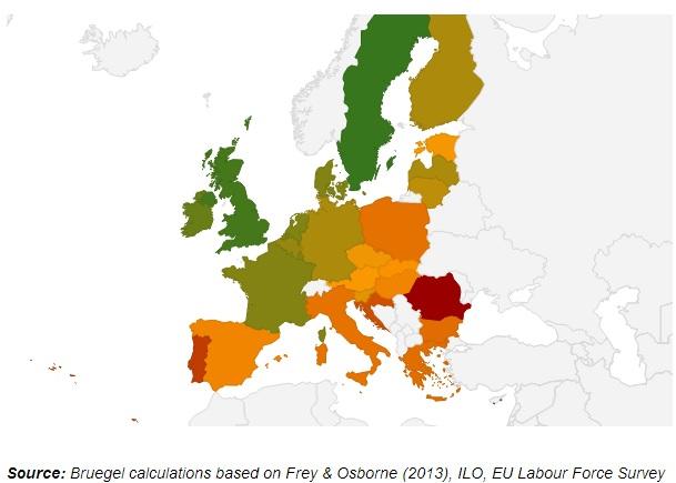 """Τι """"απειλεί"""" το 54% των θέσεων εργασίας στην Ε"""